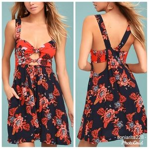 Free People Baby It's You Floral Print Dress sz S
